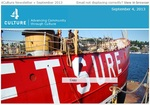 4Culture September 2013 Newsletter Cover