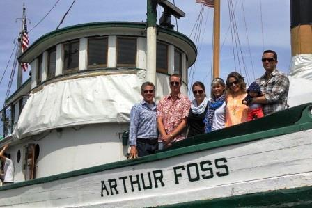 Thea aboard Arthur Foss 2014