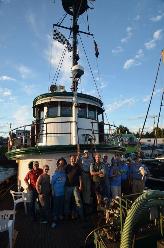 Tug GALENE Crew on Tug Training Robert Grenier